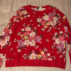 H&M floral sweater
